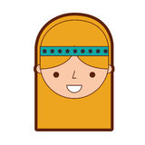 Woman hippie lifestyle character. Vector illustration design Stock Photos