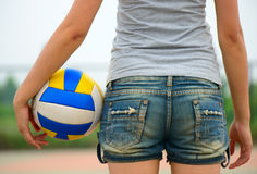 Woman'hips and a volley Stock Photography