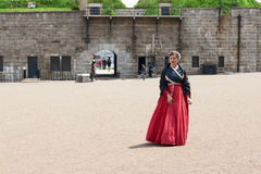 Woman in Historic Clothing Stock Photography