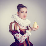 Woman in historical costume. Royalty Free Stock Images
