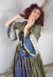 Woman in historical costume Royalty Free Stock Image