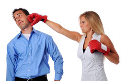 Woman Hitting Man Royalty Free Stock Image