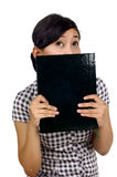 Woman Hold Book Stock Photos