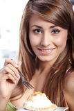 Woman hold cake Royalty Free Stock Photos