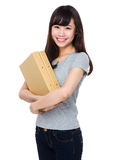 Woman hold with folder Stock Image