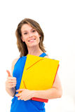 Woman hold a folder Stock Photography