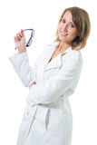 Woman hold glasses Stock Photo