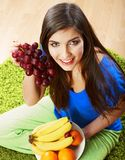 Woman hold healthy food. Stock Photos
