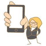 Woman hold mobile Stock Photography