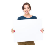 Woman hold with placard Stock Photography