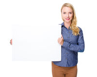 Woman hold placard Stock Photography
