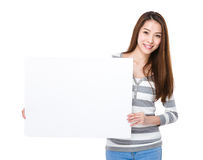 Woman hold with placard Stock Image