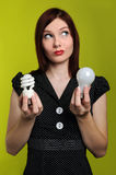 Woman Holding Stock Photo