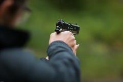 Free Woman Holding A BB Gun ( Pistol ) Royalty Free Stock Photo - 47344125
