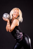 Woman Holding A Sphere Stock Photo