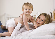 Woman Holding Baby Royalty Free Stock Photo