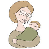 Woman Holding Baby stock illustration