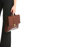 Woman holding a bag Royalty Free Stock Photo