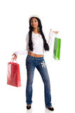 Woman holding bags Royalty Free Stock Photo