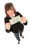 Woman Holding Banknote Stock Photography