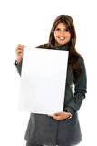 Woman holding a banner Stock Photos