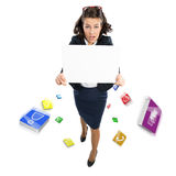 Woman holding banner Stock Photography