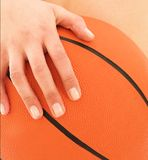 Woman holding Basketball Royalty Free Stock Photos