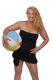 Woman Holding Beach Ball Royalty Free Stock Photo