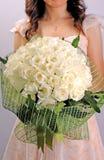 Woman holding beautiful bouquet Royalty Free Stock Photo