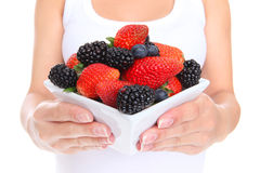 Woman Holding Berries Royalty Free Stock Photography