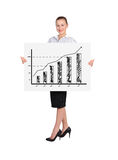 Woman holding billboard royalty free stock image