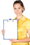 Woman Holding Blank Sign Royalty Free Stock Photos