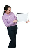 Woman Holding a Blank Sign Royalty Free Stock Photography