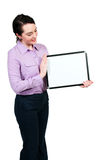 Woman Holding a Blank Sign Royalty Free Stock Photo