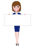 Woman holding board Stock Photos