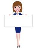 Woman holding board Stock Photos