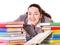 Woman holding book. Royalty Free Stock Photography