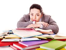 Woman holding book. Stock Photo