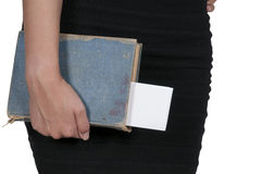Woman holding book Royalty Free Stock Photography