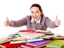 Woman holding book. Royalty Free Stock Photo