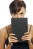 Woman holding book Royalty Free Stock Photos