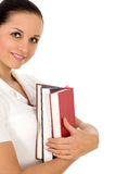 Woman holding books Royalty Free Stock Image