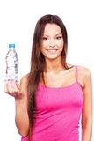 Woman holding bottle of water Stock Photography