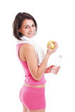 Woman holding bottle of water Royalty Free Stock Photos