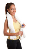 Woman Holding Bottle of Water Royalty Free Stock Photography
