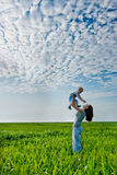 Woman holding boy Royalty Free Stock Images