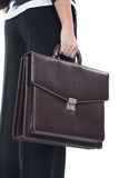 Woman holding a briefcase Stock Photography