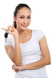 Woman holding car key Stock Image