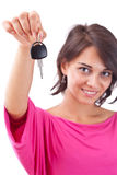 Woman holding car keys Stock Image
