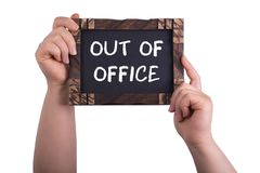 Out of office royalty free stock image